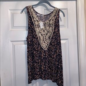 NWT Maurices Floral Tank Top size 2X